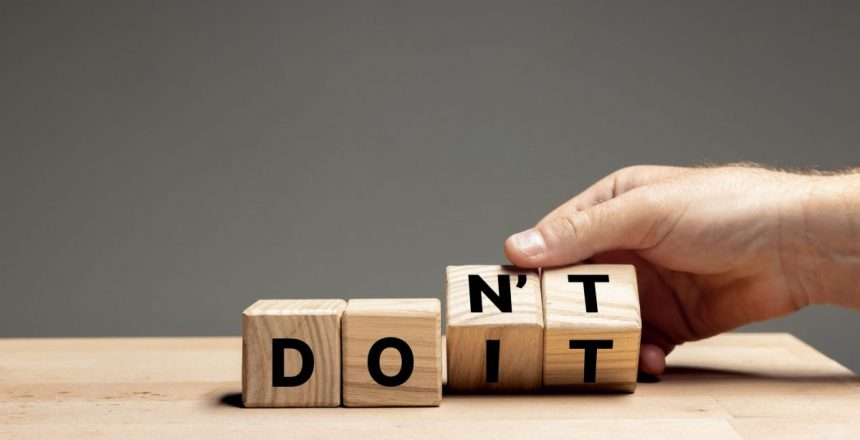 What Not To Do Nonprofits